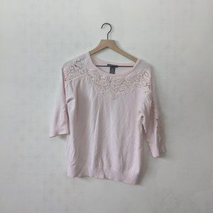 Chelsea & Theodore XL Light Pink ¾ Sleeve Top
